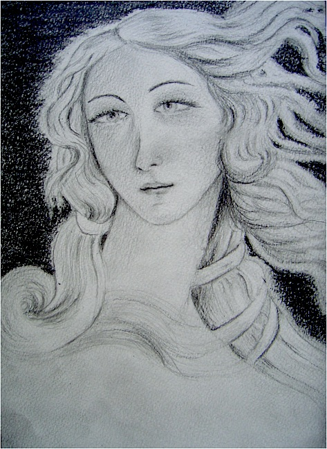 Venus. Crayon on paper, 16x24, 2011