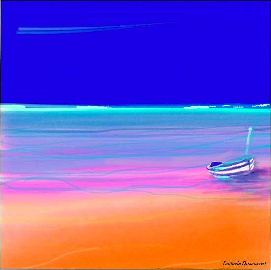 Low tide. Digital painting, 19x19, 2014