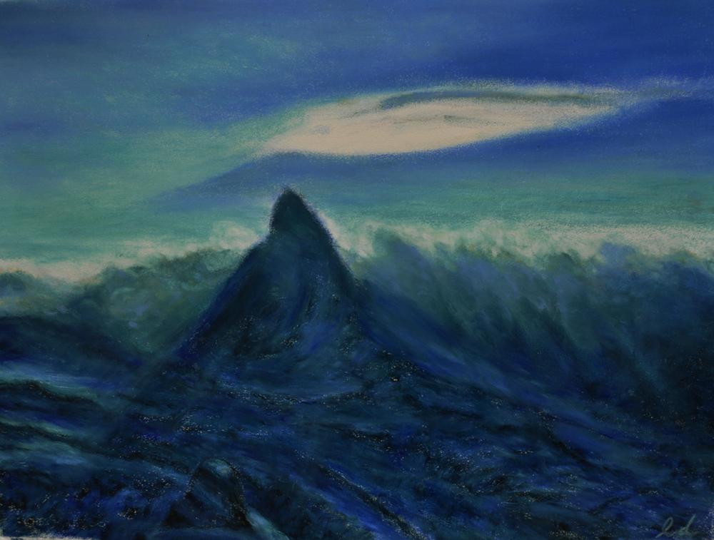 Matterhorn. Oil pastel, 60x75, 2016
