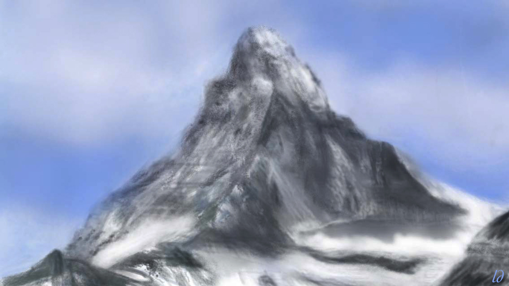 Matterhorn, north face. Digital painting, 20x35, 2017