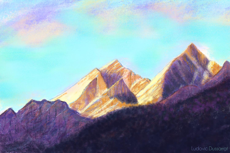 Mischabel. Peinture digitale, 38x57, 2018