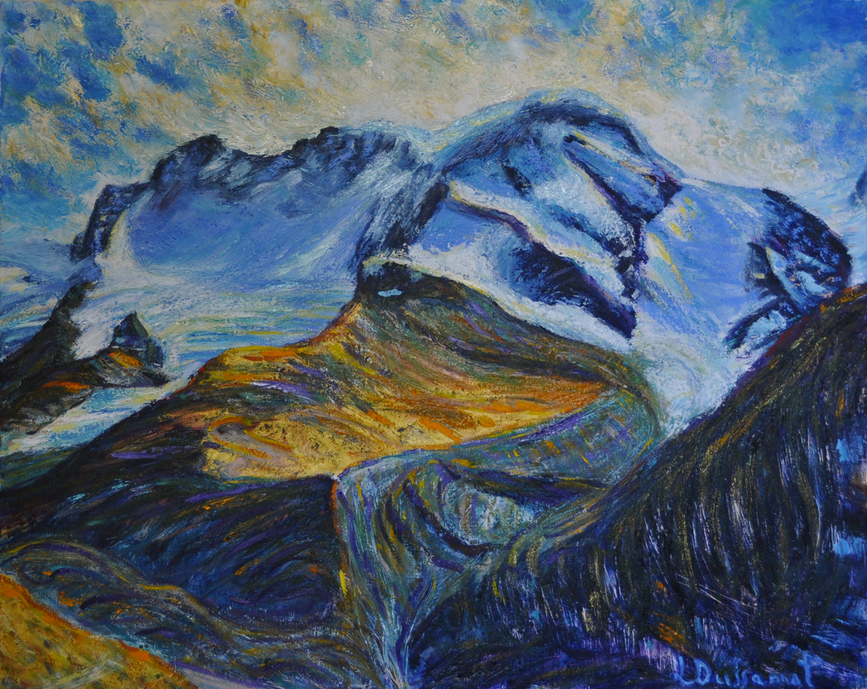 Breithorn. Oil on canvas, 65x80, 2018