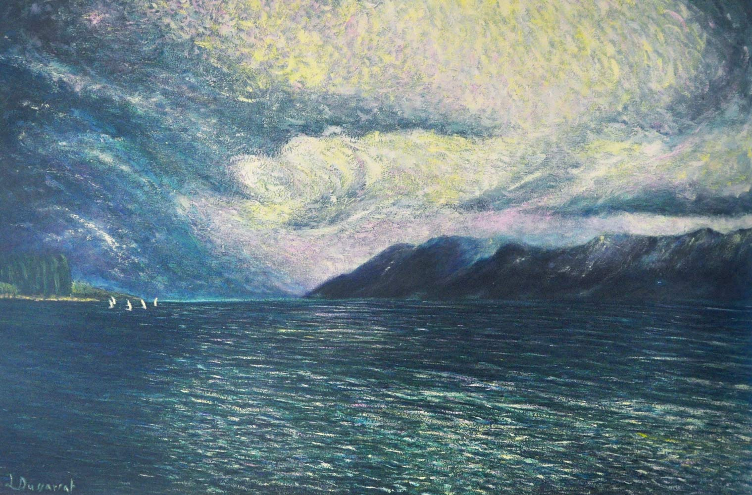 Before the storm, Lutry. Oil on canvas, 80x120, 2017