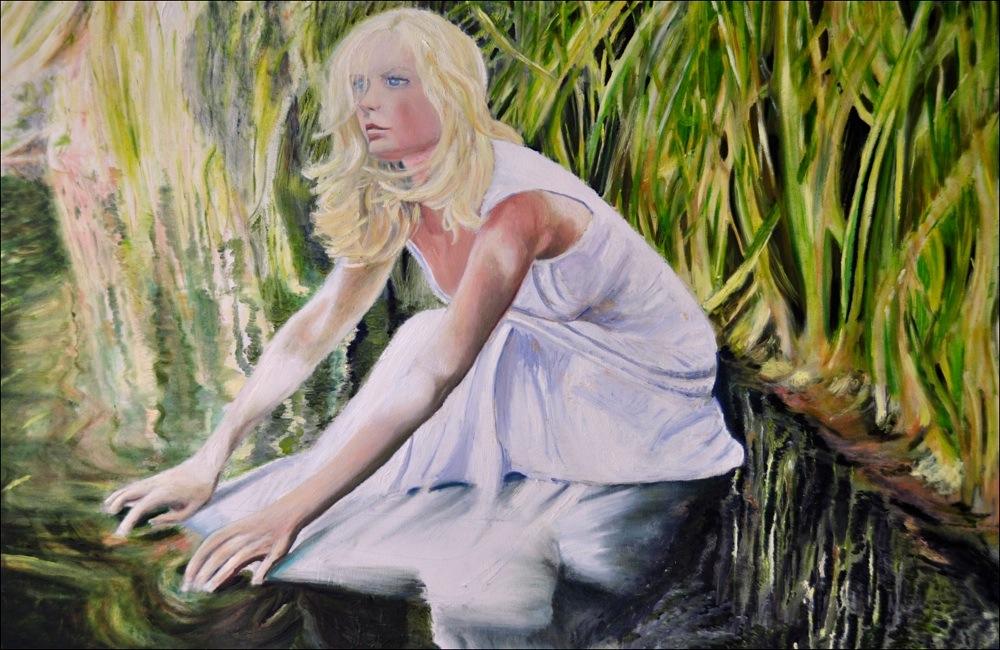 Trash the dress. Huile sur toile, 80x120, 2012