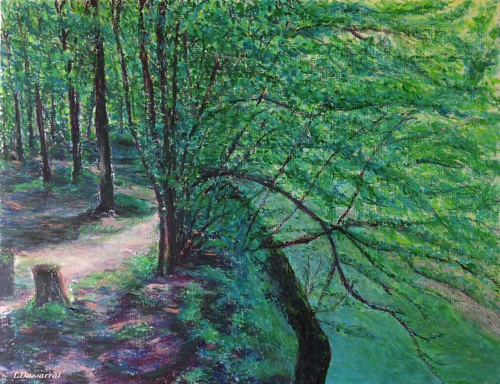 L' Allondon. Pastel à l'huile sur papier, 50x65, 2015