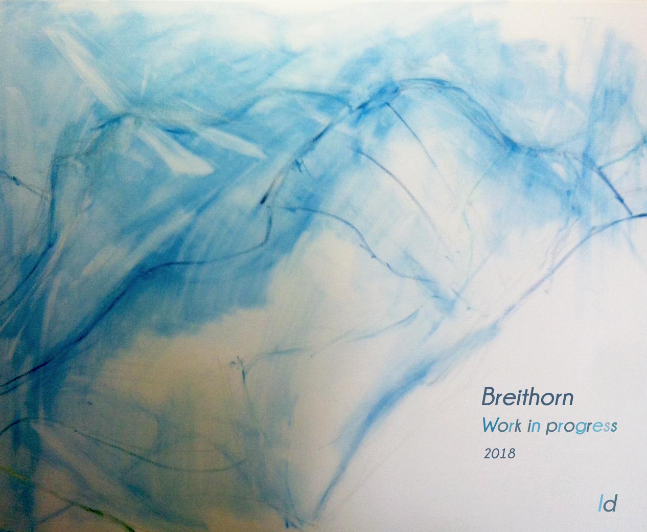 Breithorn, Work in Progress. Oil on canvas, 65x80, 2018