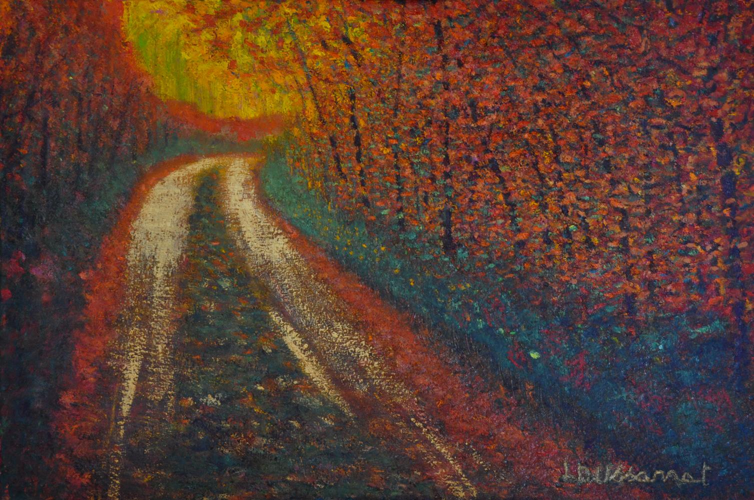 Autumn mood. Huile sur toile, 80x120, 2018