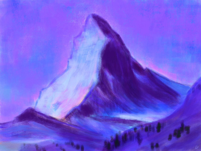 Matterhorn, peinture digitale. 141x105, 2020