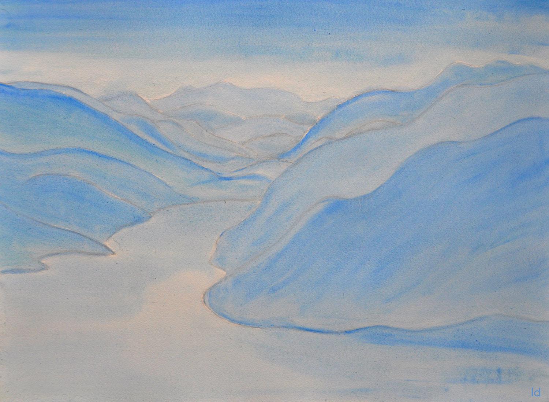 Lago di Lugano, 5. Huile sur papier, 56x76, 2020