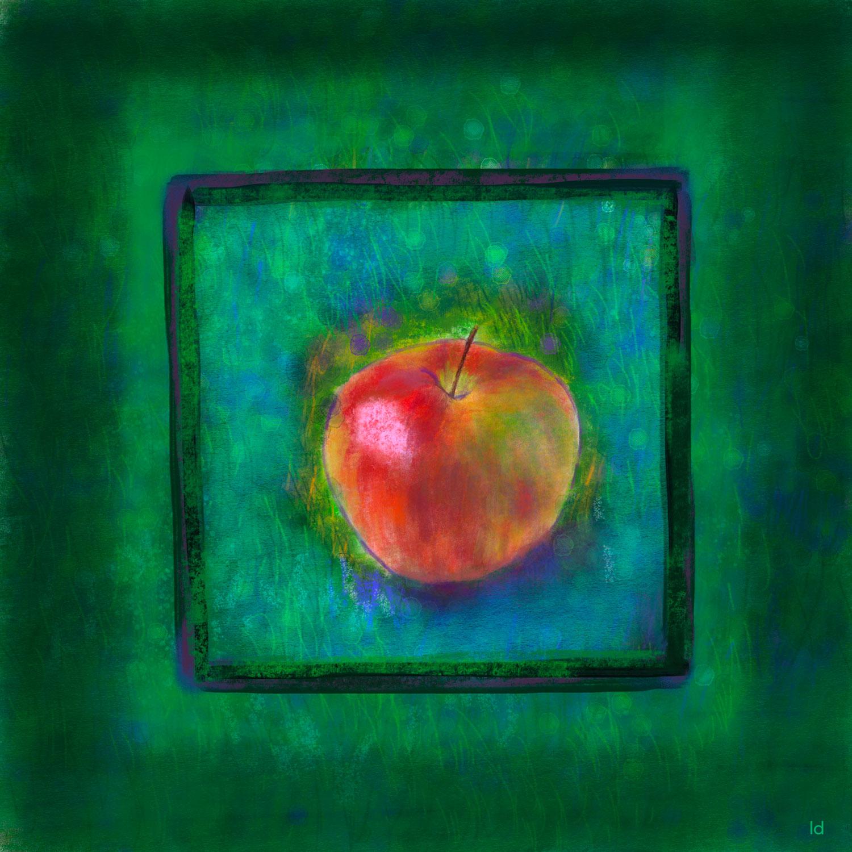 Pomme, 6. Peinture digitale, 105x105, 2020