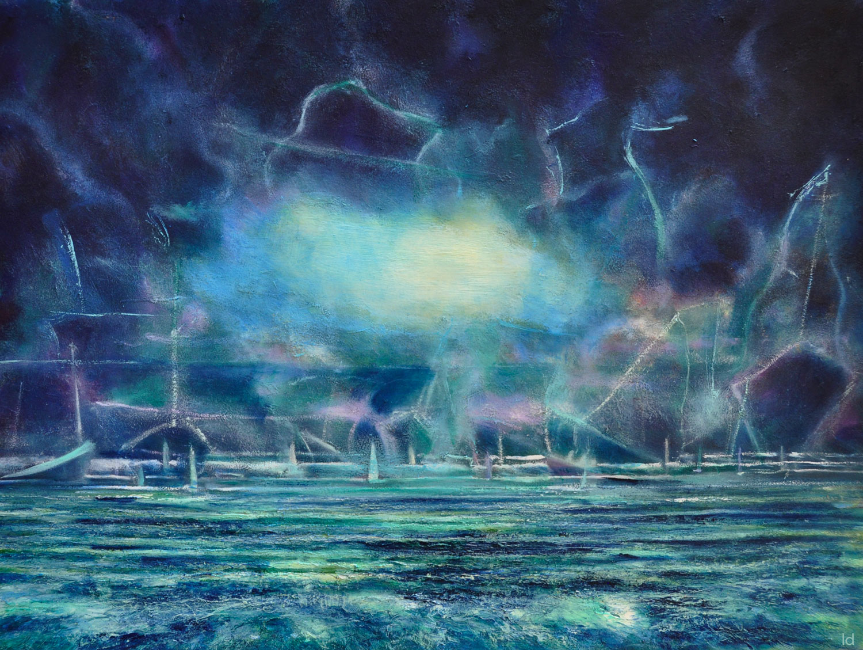 Mémoire des naufrages. Huile sur papier, 56x76, 2021
