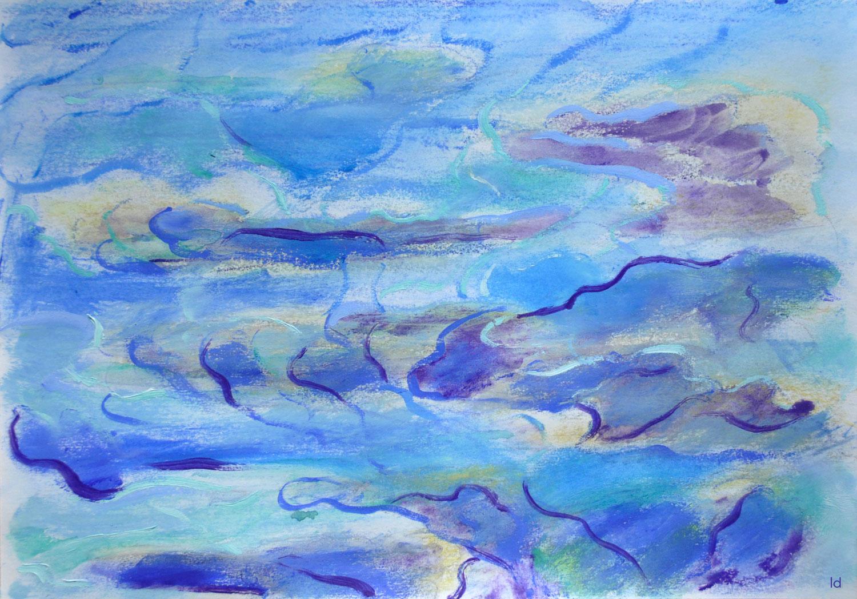 Etude de nuages, 2. Technique mixte sur papier, 21x29, 2021