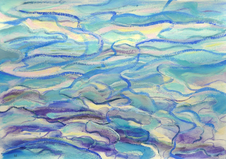 Etude de nuages, 3. Technique mixte sur papier, 21x29, 2021