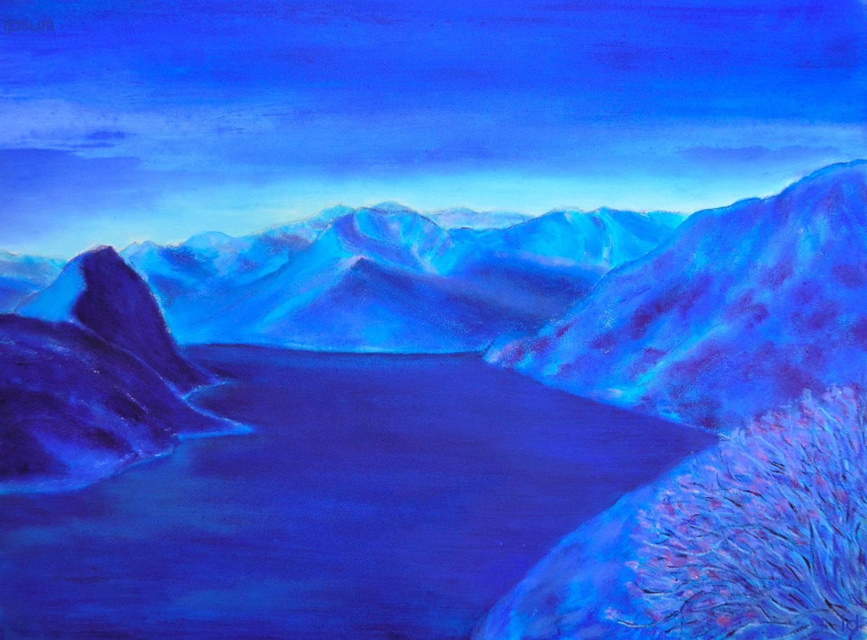 Lago di Lugano, 3. Huile sur papier, 56x76, 2020